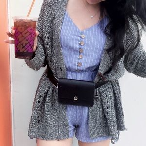 Pants - Blue Striped Romper